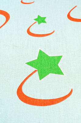 Fabric Textile With Star Poster by Boyan Dimitrov
