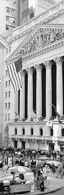 Facade Of New York Stock Exchange, Manhattan, New York City, New York State, Usa Poster