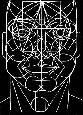 Face Geometrized Poster by Paulo Zerbato
