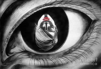 Face In Eye Poster by Stanislav Ballok