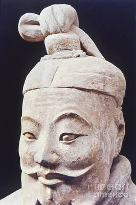 Face Of A Terracotta Warrior Poster by Heiko Koehrer-Wagner