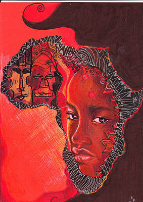 Face Of Africa Poster