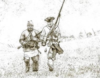 Face Of Danger Soldier Sketch Poster