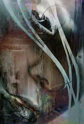 Poster featuring the digital art Face Pop by Greg Sharpe