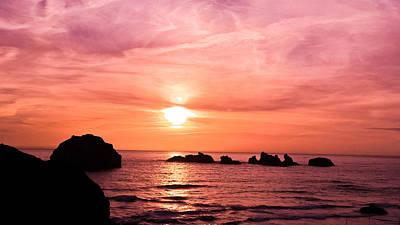 Face Rock Sunset Poster