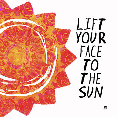 Poster featuring the painting Face To The Sun by Lisa Weedn