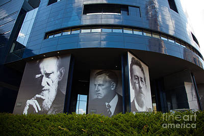 Faces Of Guthrie Theater Minneapolis Poster by Wayne Moran