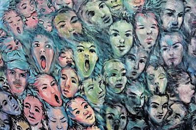 Faces Streetart Berlin Poster