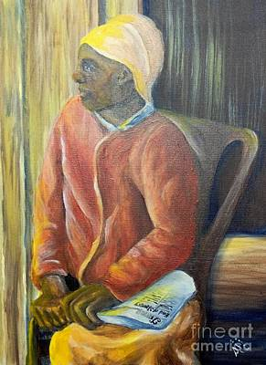 Poster featuring the painting Facing Freedom by Saundra Johnson