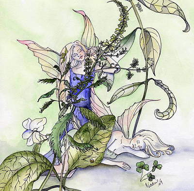 Faeries In The Garden Poster