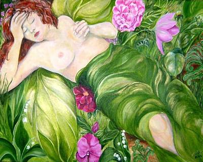 Poster featuring the painting Faery Dreams by Nadine Dennis