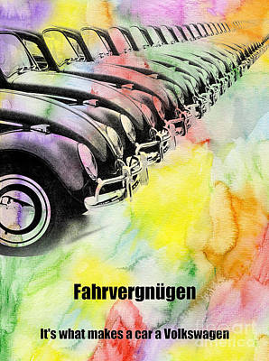 Fahvergnugen Poster by Jon Neidert