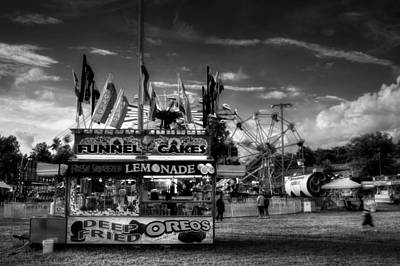 Fair Food In Black And White Poster
