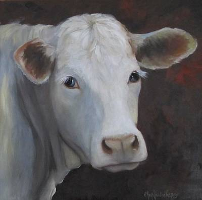 Poster featuring the painting Fair Lady Cow Painting by Cheri Wollenberg