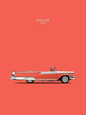 Fairlane 500 Poster by Mark Rogan