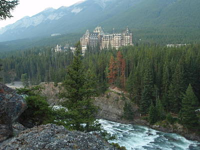 Fairmont Hotel Banff Poster by Dennis Boyd