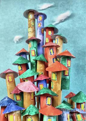 Fairy City Poster by Grigorios Moraitis