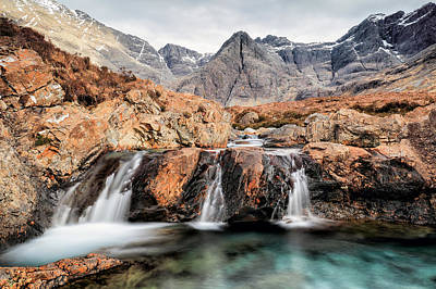 Poster featuring the photograph Fairy Pools by Grant Glendinning