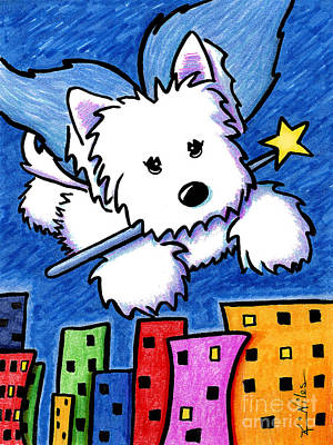 Fairy Princess Westie Poster