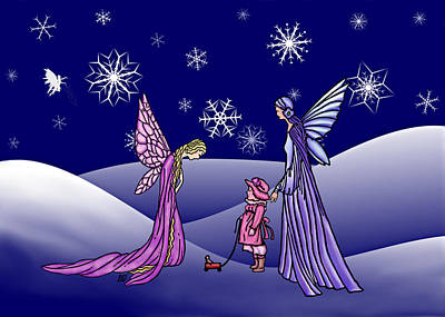 Fairy Winter Poster by Barbara St Jean