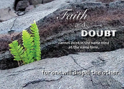 Faith And  Doubt Poster