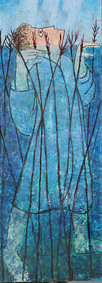Poster featuring the painting Faith At The Sea Of Reeds by Mordecai Colodner