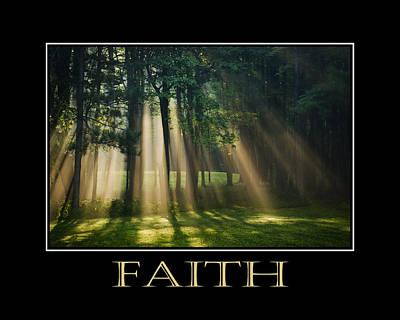 Faith Inspirational Motivational Poster Art Poster
