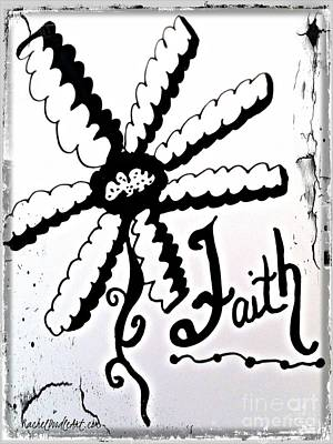 Poster featuring the drawing Faith by Rachel Maynard
