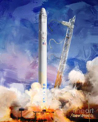 Falcon 9 Liftoff Poster