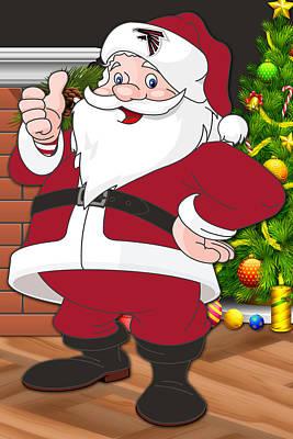 Falcons Santa Claus Poster