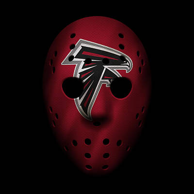 Falcons War Mask Poster