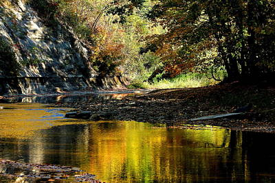 Fall At Big Creek Poster by Bruce Patrick Smith
