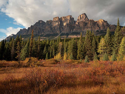 Fall At Castle Mountain Poster