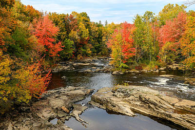 Fall At Little Androscoggin Poster by Laurie Breton