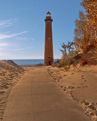 Fall At Little Point Sable Light Poster