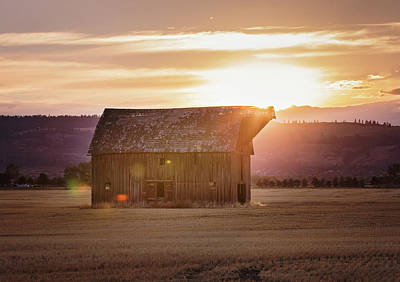 Fall Barn Poster by Down the Dirt Road Photography