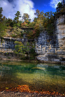 Fall Bluff At Ozark Campground Poster by Michael Dougherty
