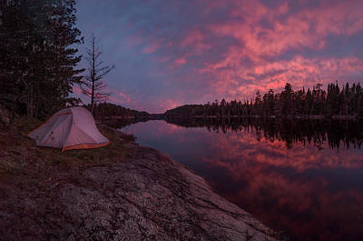 Poster featuring the photograph Fall Camping // Bwca, Minnesota  by Nicholas Parker
