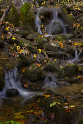 Poster featuring the photograph Fall Cascades by Ellen Heaverlo