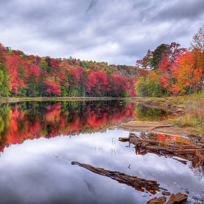 Poster featuring the photograph Fall Color At The Pond by David Patterson