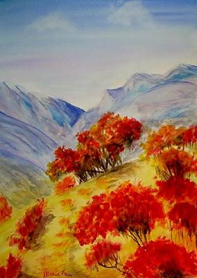 Poster featuring the painting Fall Color by Jamie Frier