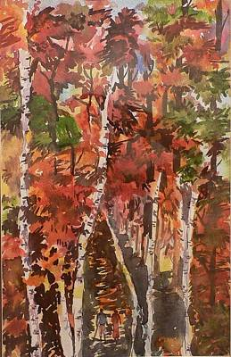 Poster featuring the painting Fall Colors by Geeta Biswas