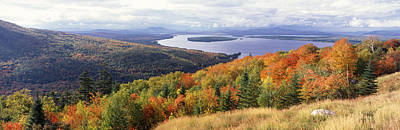 Fall Colors Mooselookmeguntic Lake Me Poster