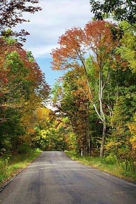 Fall Colors On Country Road Poster by Christina Rollo