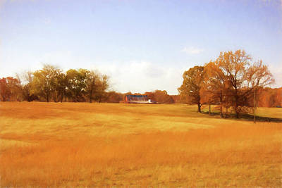 Fall Field - Rural Landscape Poster