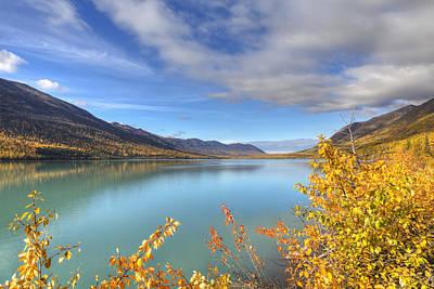 Fall Foliage Along Eklutna Lake Poster by Lucas Payne