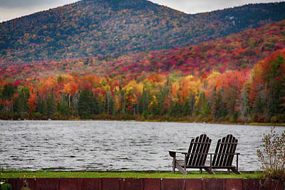 Fall Foliage At Noyes Pond Poster