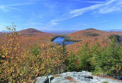 Fall Foliage At Owl's Head Groton State Forest Poster by John Burk