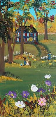 Poster featuring the painting Fall Foliage by Virginia Coyle