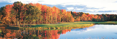 Fall Golf Course New England Usa Poster
